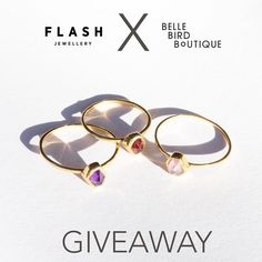 GIVEAWAY  We've teamed up with the babes at @bellebirdboutique for a Flash Giveaway!  Up for grabs is 3 Moonlight Stackers (One for you and two besties!) All you have to do is follow us @flashjewellery flashjewellery and @bellebirdboutique - tag two friends  Winners drawn Sunday! Good luck xx