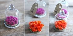Décoration de table : fleurs dans des cloches à pâtisserie Cloche, Bouquet, Decoration, Desserts, Flowers, Diy, Wedding, Table, Quirky Wedding