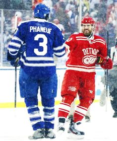 Winter Classic: The Captains. Toronto Maple Leafs.  Detroit Red Wings. Dion Phaneuf. Henrik Zetterberg. 2014.