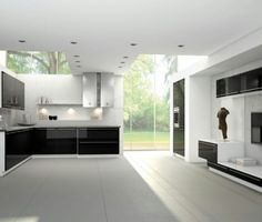 moderne k chen on pinterest kitchen cabinet. Black Bedroom Furniture Sets. Home Design Ideas