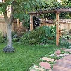 diy backyard with flagstone - Google Search