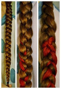 "Italian Braids and Curls + adding yarn ""extensions"""