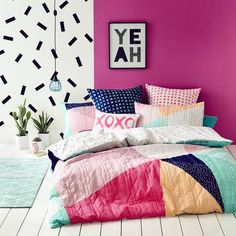 Ruckus Suki Bedlinen - Bedroom Quilt Covers & Coverlets - Adairs Kids online