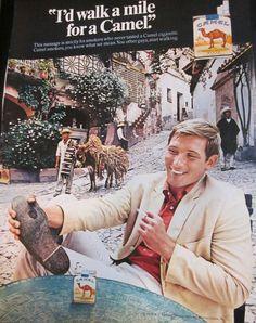 Vintge 1968 CAMEL Cigarettes Advertisement. $5.00, via Etsy.