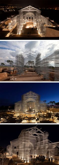 An Early Christian Church Resurrected in Towering Wire Mesh by Edoardo Tresoldi