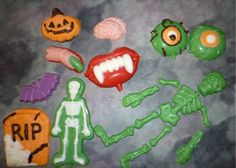 A creepy and ghoulish assortment of Halloween chocolates.