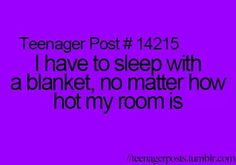 Duh bc blankets totally protect you from the boogie man, monsters, murders, and any other scary things