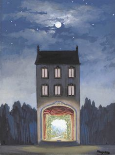 René Magritte, Belgian, 1898 - The House (La maison) 1947 Rene Magritte, Conceptual Art, Surreal Art, Wassily Kandinsky, Roy Lichtenstein, Monet, Modern Art, Art Gallery, Illustration Art