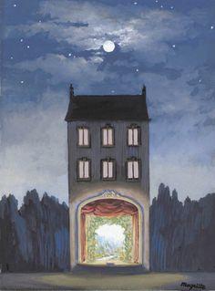 The House, La maison 1947 René Magritte 1898 - 1967 🎯🎯🎨🎭 More @ FOSTERGINGER At Pinterest 🎭🎭🎭🎯