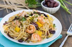 Linguine with Shrimp, Olives, and Sun-Dried Tomatoes
