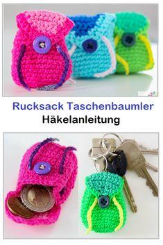 Rucksack Taschenbaumler – crochet pattern – The Best Ideas Poncho Knitting Patterns, Crochet Patterns, Mochila Crochet, Tree Bag, Knit Crochet, Crochet Hats, Crochet Instructions, Crochet Purses, Knitted Bags