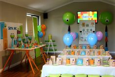 Little Big Company | The Blog: Head into Monstropolis this Monsters Inc Party By Sweet Tables by Chelle is Amazing