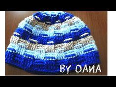Cappello punto canestro all'uncinetto- by Oana - YouTube