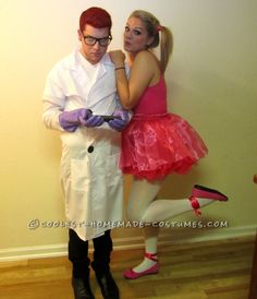 Cute and Easy Dexter and Dee Dee Couple Cartoon Costume... This website is the Pinterest of costumes