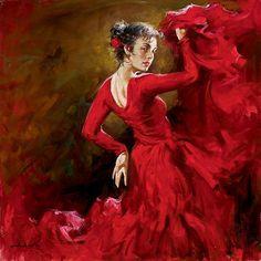 """Crimson Dancer""  by andrew Atroshenko  -  paintinghere.com"
