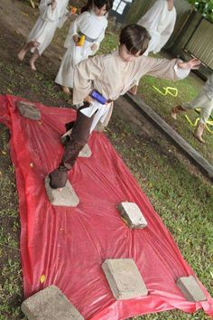 Walk over 'lava field'; Star Wars Lego Birthday Party Ideas   Photo 1 of 82   Catch My Party