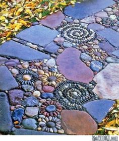 Flower-Stone Pavement : A Part Of Stone Mosaic