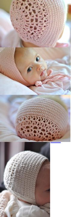 Cute baby bonnet free crochet pattern