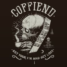 Last year I did a drawing for a coffee shop in the mother land Africa. It was for the greatest coffee shop I ever heard of, no free WiFi, no sitting down, cash only, get ya coffee fix and fuck off....it was a coffee shop and record store. T-shirts soon....I'll put up a link soon