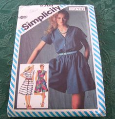 Vintage Simplicity Pattern 6368 Misses Dress and Culotte Dresses in two lengths by vintagecitypast on Etsy