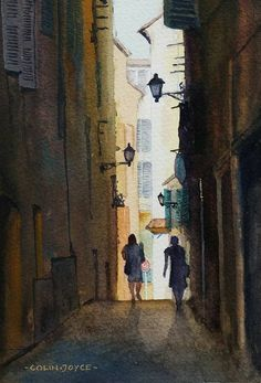 A little watercolour of a side alley in Nice, France. I paint a lot of these small watercolours around 5x7 inches.