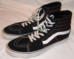 Vans Off The Wall Black High Top Sneakers Shoes 13 Mens Hi Skateboard | Clothing, Shoes & Accessories, Men's Shoes, Athletic | eBay!
