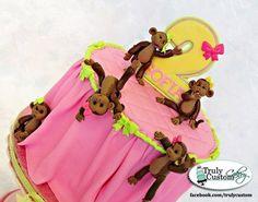 5 little monkeys - by TrulyCustom @ CakesDecor.com - cake decorating website