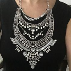 Gorgeous statement necklace Brand new!! Absolutely stunning necklace with rhinestones... Will make any little black dress look like a million bucks! Jewelry Necklaces
