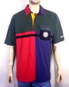 03e9f6fec35 Image result for Vtg 90s Men's Tommy Hilfiger Orange Green Striped Rugby  Large A40