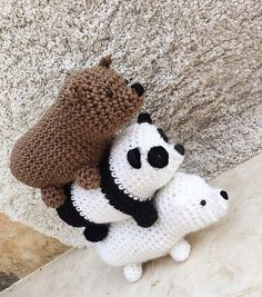 Ravelry: We Bare Bears Amigurumi pattern by Nicole Trovato