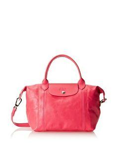 Longchamp - Le Pliage Cuir Bag, Pink