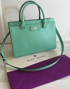 Kate Spade New York Wellesley Durham Satchel Handbag Blue $345.00 #katespade #Satchel