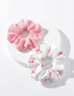 Diy Hair Scrunchies, Hair Barrettes, Cute Room Decor, Fluffy Animals, Cute Packaging, Ditsy Floral, Blue Butterfly, Cute Pink, Hair Ties