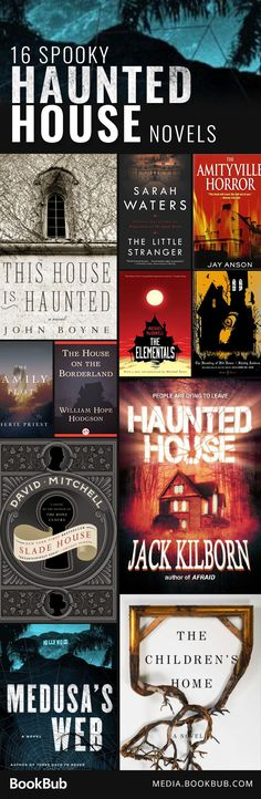 16 spooky haunted house books.
