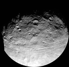 Enormous troughs that reach across the asteroid Vesta may actually be stretch marks that hint of a complexity beyond most asteroids.Now, a new analysis supports the notion that the troughs are faults that formed when a fellow asteroid smacked into Vesta's south pole. The research reinforces the claim that Vesta has a layered interior, a quality normally reserved for larger bodies, such as planets and large moons.