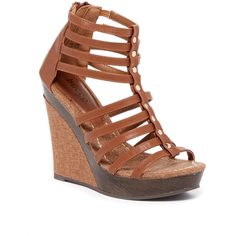 Bucco Otto Wedge Sandal ($20) ❤ liked on Polyvore