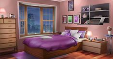 Discover recipes, home ideas, style inspiration and other ideas to try. Fancy Bedroom, Bedroom Night, Girls Bedroom, Bedroom Decor, Episode Interactive Backgrounds, Episode Backgrounds, Anime Scenery Wallpaper, Anime Backgrounds Wallpapers, Living Room Background