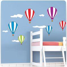 Kids Bedroom Hot Air Balloons Nursery Wall Stickers (Girls Boys Decal Baby) | eBay