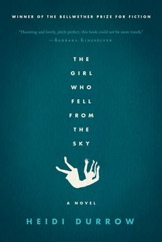 Love the typography layout here tracing the girl's fall.  Simple, arresting and classy. Love it.