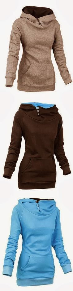 3 Colors Adorable Women Hoodie.