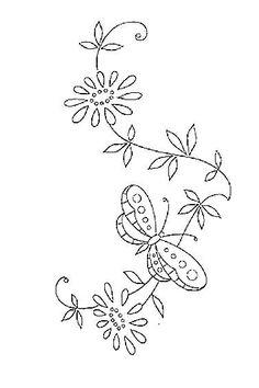 several butterfly motifs