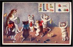 knitandcompany:    rosapomar:    via habetrot.typepad.com    Knittin' kittens.