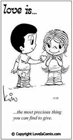 Love is. Number one website for Love Is. Funny Love is. pictures and love quotes. Love is. comic strips created by Kim Casali, conceived by and drawn by Bill Asprey. Everyday with a new Love Is. Love Is Cartoon, Love Is Comic, Mickey Bad, What Is Love, Love You, My Funny Valentine, Valentine Ideas, Love My Husband, Awesome Husband