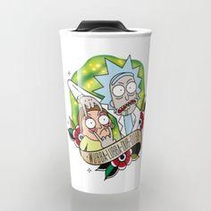 Traditional Rick and Morty  Travel Mug