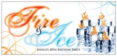 fire and ice invitations | Fire and ice themed personalised invitations - BallisticBlue