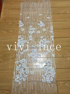 5yardsMJL083 # white 3D applique new fashion show mesh tulle embroidery lace fabric for wedding/evening dress,