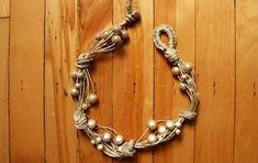 Бусины, бечевка… Потрясающее украшение за один вечер готово! Мастер класс. Organic Modern, Boho Gypsy, Jewelry Making, Chain, Beads, Bracelets, How To Make, Handmade, Crafts