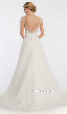 Scallop Pearl Wedding Dress