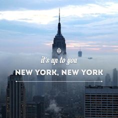 """New York, New York"" by Frank Sinatra. My theme song. I find myself singing it a lot"