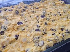 This recipe is easy and can be made 100 different ways (or more!).  We're sharing the recipe + 20 great ideas to mix it up from our Facebook fans. Enjoy! Lazy Cookie Cake Ingredients  1 box yellow or white cake mix (we like Butter Cake) 2 eggs beaten 5 Tbsp melted butter 2 cups chocolate chips (we like M&M's, or dark chocolate chips with white chocolate chips)  Directions  Preheat oven to 350 degrees F. Mix together all ingredients and spread into a greased 9×13 pan. Bake for 20 minutes…